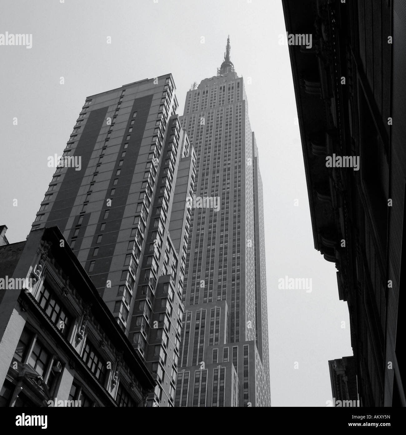 Street view of Chrysler Building New York City USA Stock Photo