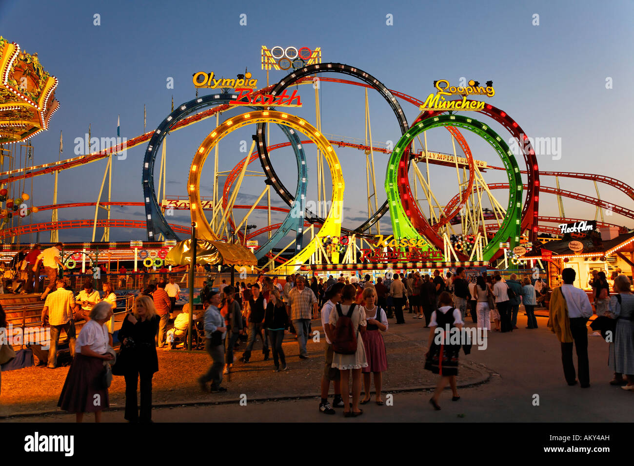 roller coaster olympia looping oktoberfest munich beer festival stock photo royalty free. Black Bedroom Furniture Sets. Home Design Ideas