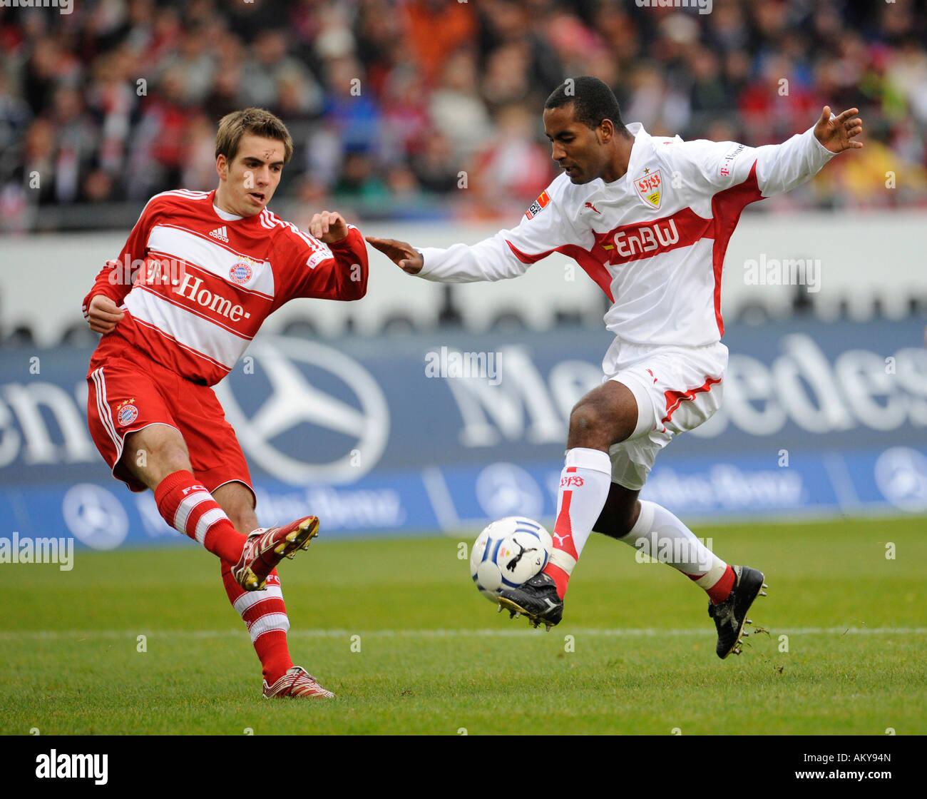 Philipp LAHM FC Bayern Muenchen left vs CACAU VfB Stuttgart