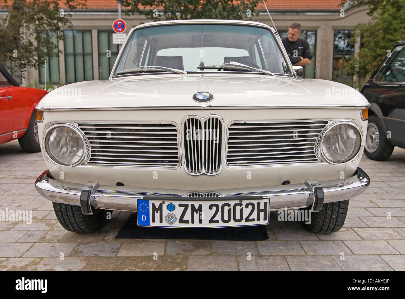 Front of BMW 2002 with special number plate for vintage cars Stock ...