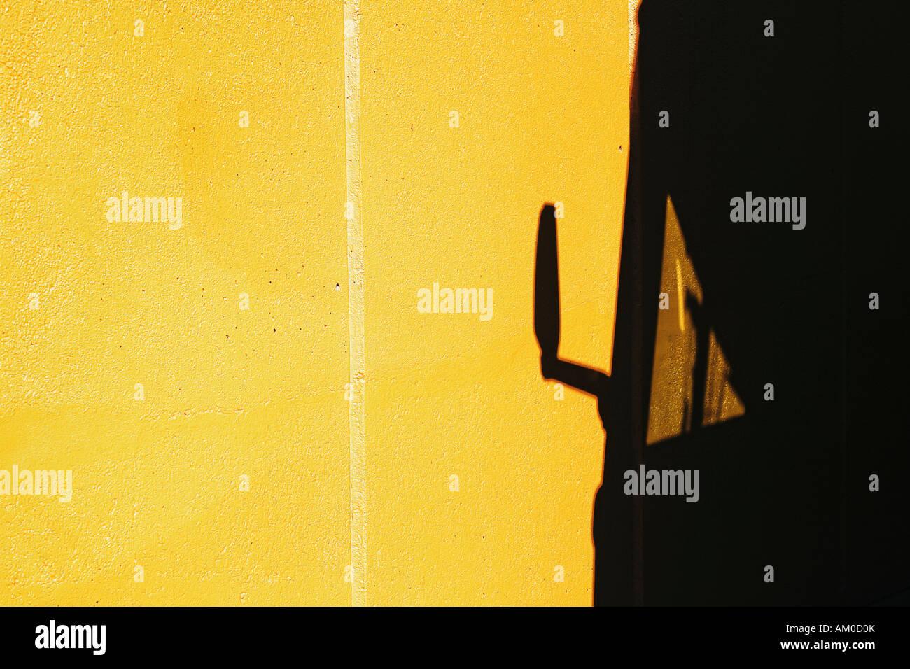 Bus Shadow On Yellow Concrete Wall Manhattan New York City Stock ...