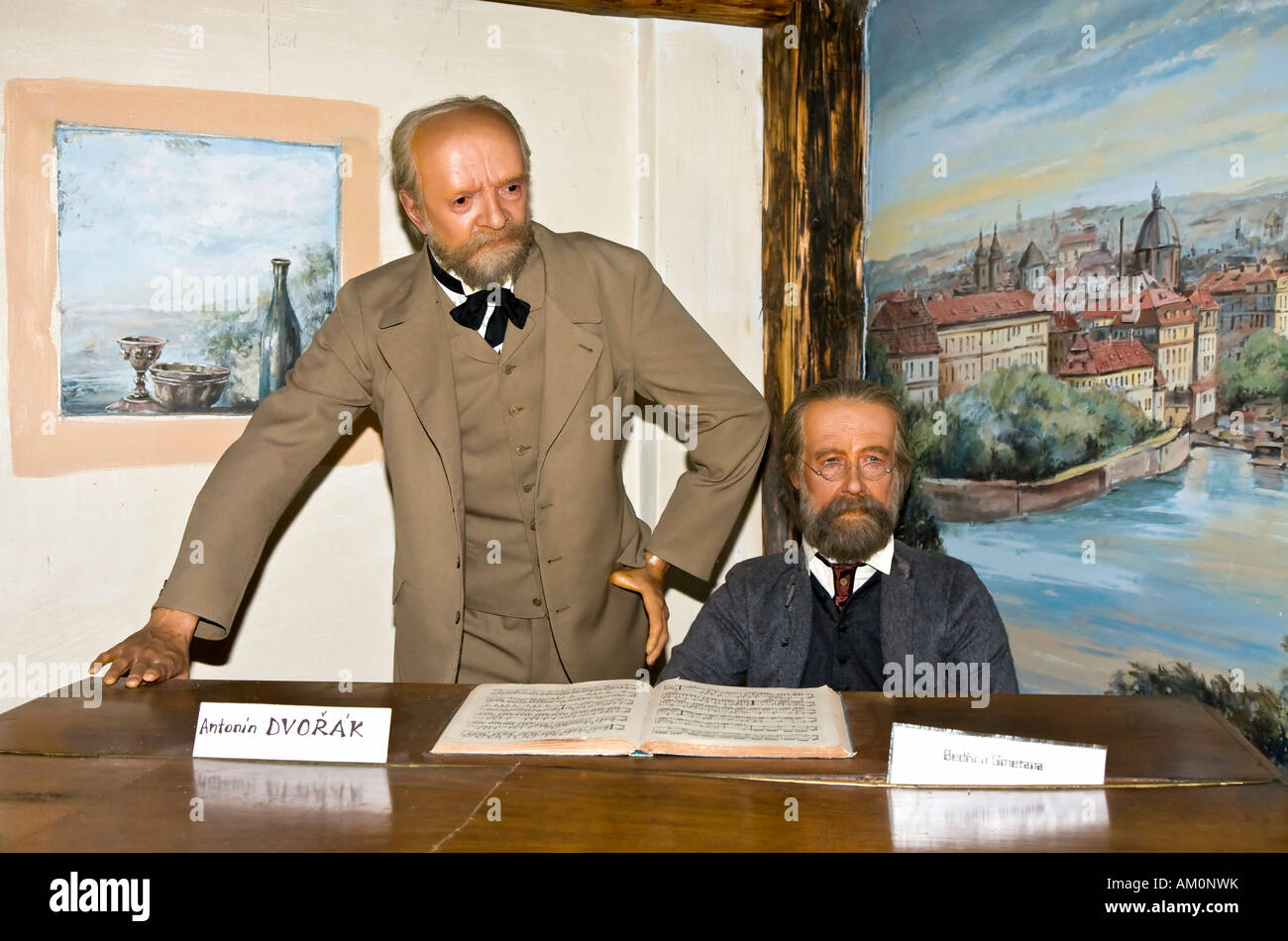 Antonin dvorak and bedrich smetana as wax figures wax for Mobel dvorak