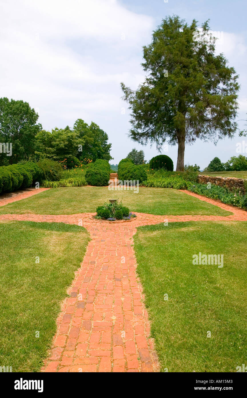 garden walkway leading to thomas jefferson s monticello view from - Toms Lawn And Garden