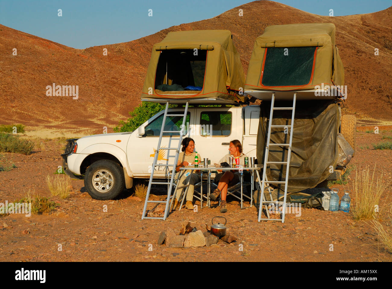 Tent Camp Hoanib River Valley Kaokoveld Namibia Stock