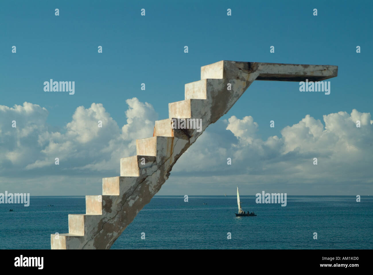 An Old Crumbling Diving Board Over An Empty Swimming Pool On The Stock Photo Royalty Free Image