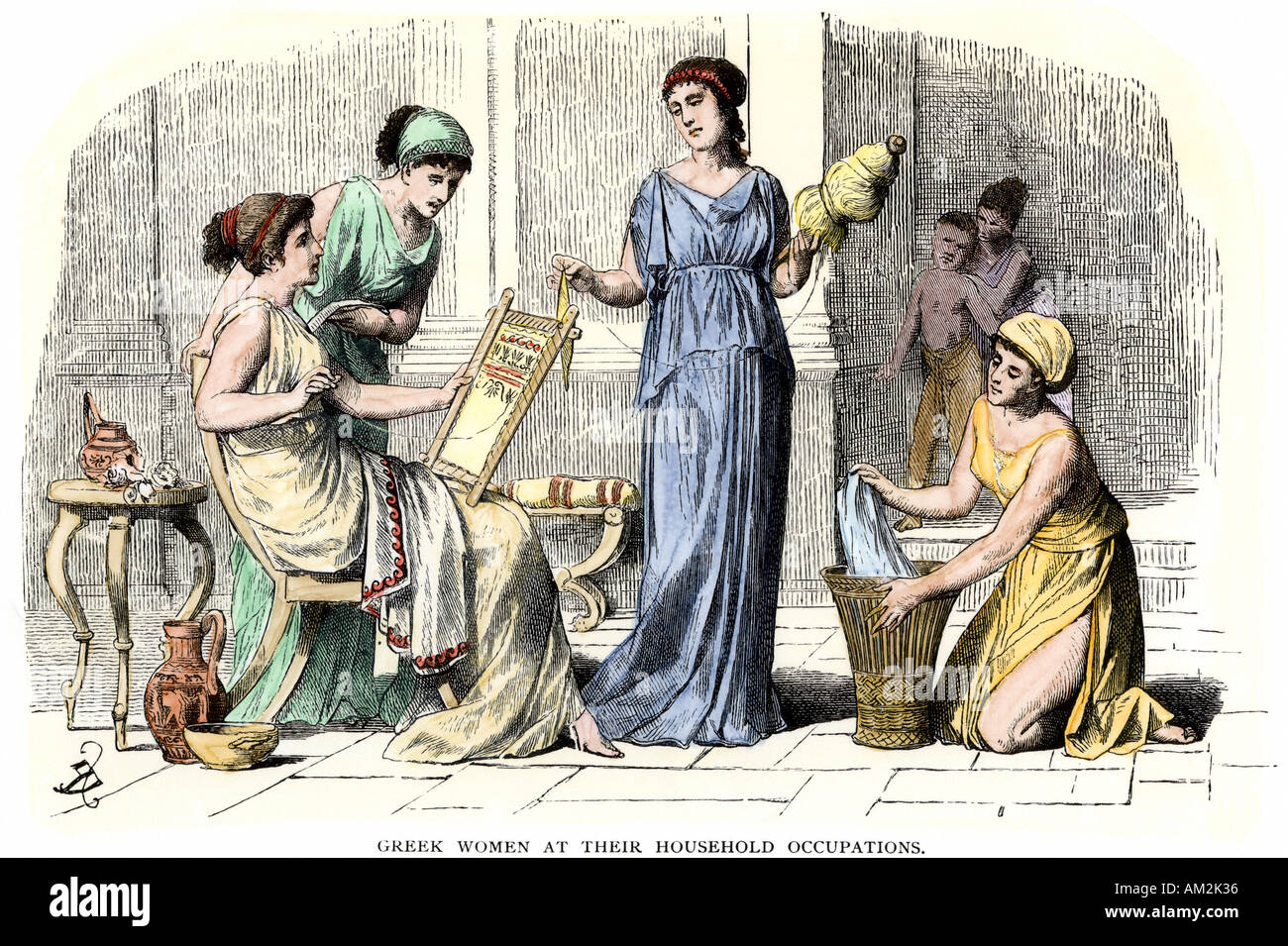 women of ancient greece Women in ancient athens had very little choices open to them if they were lucky, they could read a little, play an instrument, and owned slaves to do the daily household tasks.