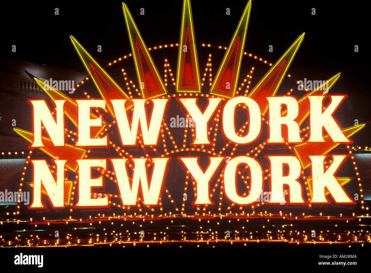 New york new york neon sign in las vegas nevada stock for What to do in new york new york
