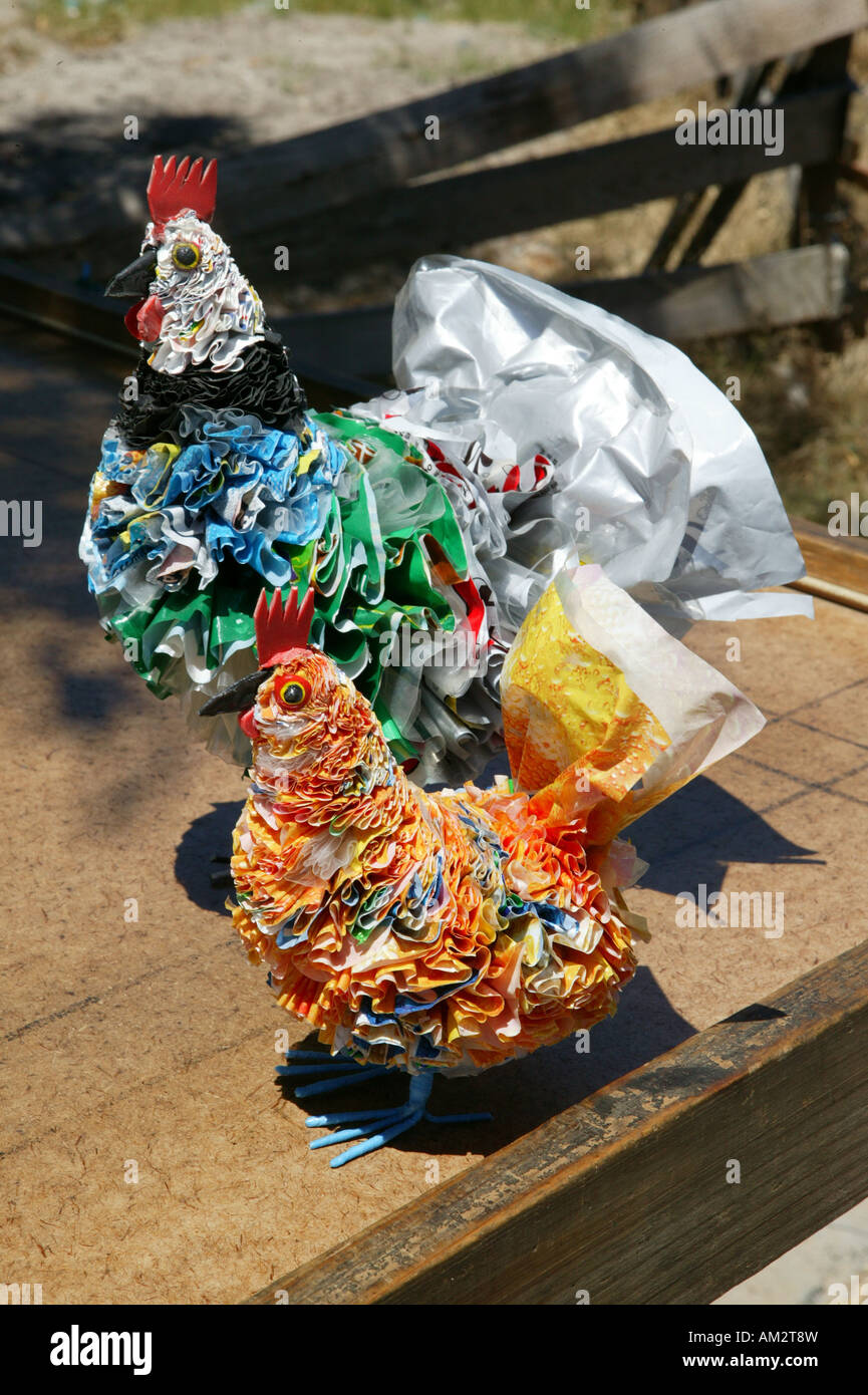 Art work made of plastic bags arts and crafts of the for Plexiglass arts and crafts