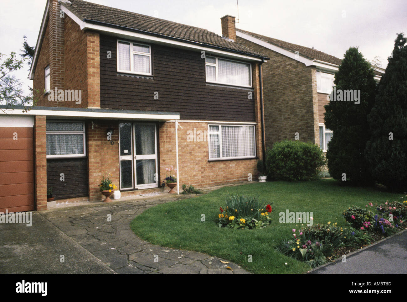 1970S House Maidenhead England Typical Detached Houses Of The 1970S Stock