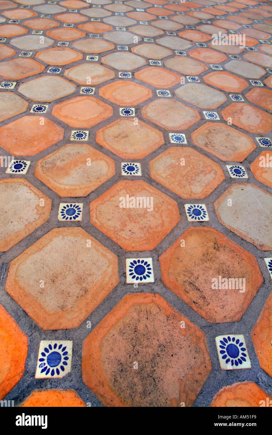 Ceramic terra cotta spanish tile floor stock photo royalty free ceramic terra cotta spanish tile floor dailygadgetfo Choice Image