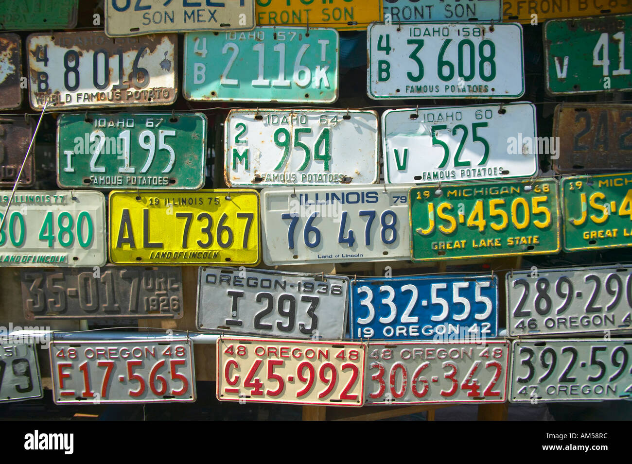 Vintage old license plates in Idaho Stock Photo: 8658811 - Alamy