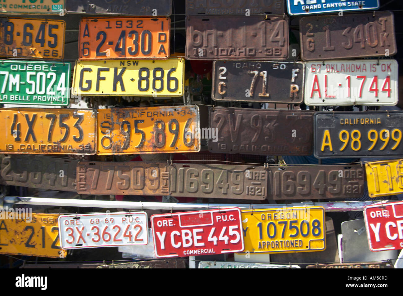 Vintage old license plates in Idaho Stock Photo: 8658812 - Alamy