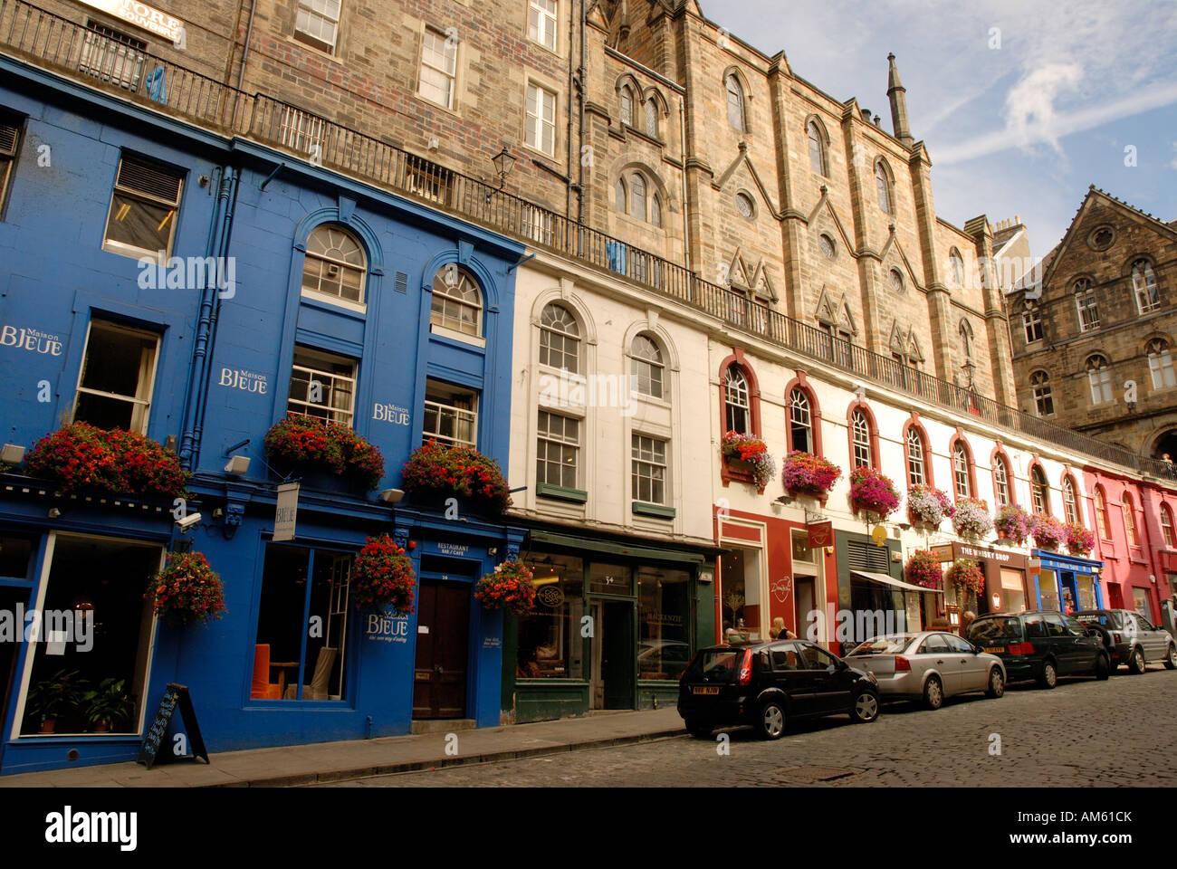 La maison bleue victoria street edinburgh scotland stock photo royalty free image 15159906 alamy - Maison bleue mobel ...