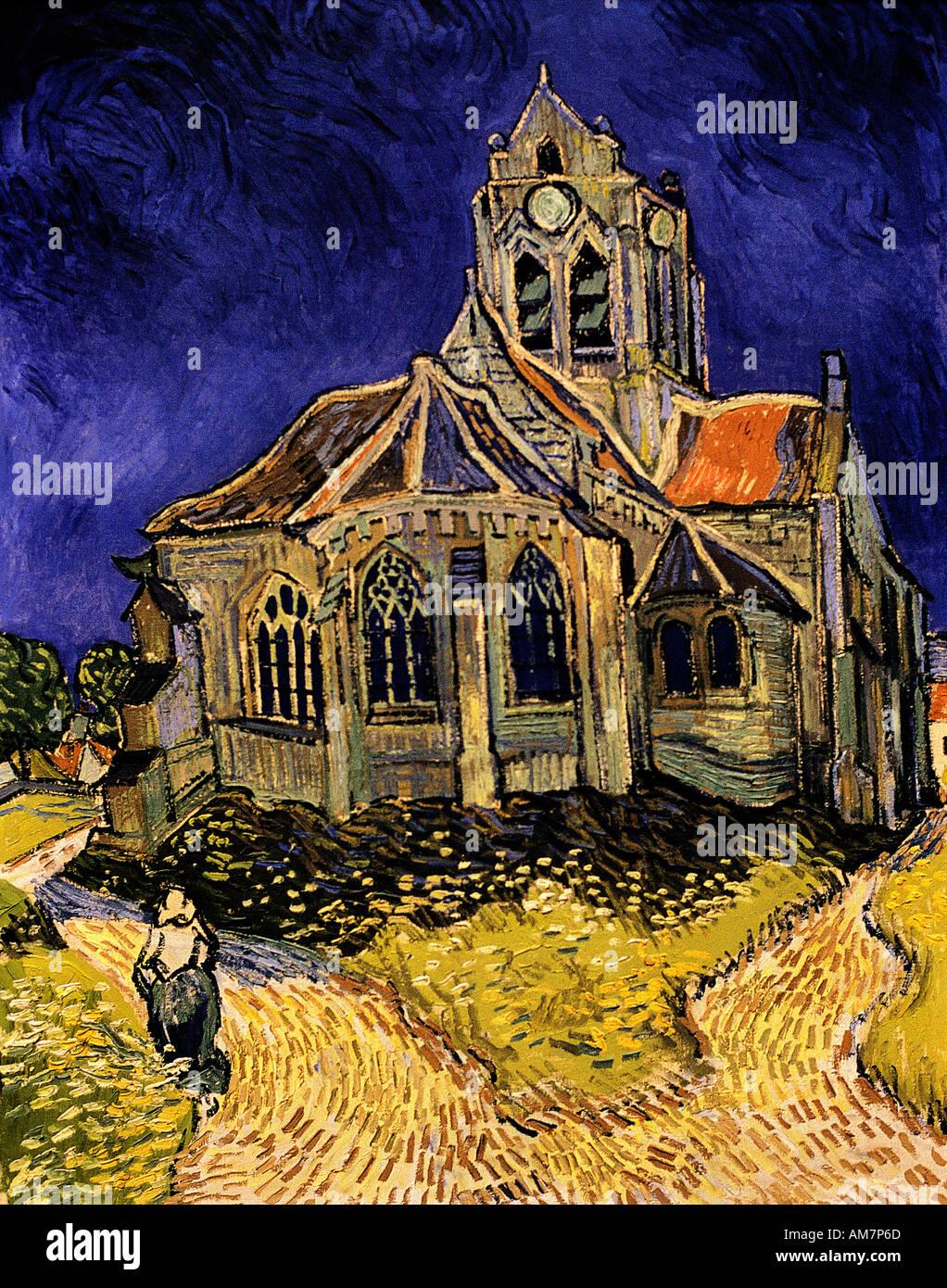 church at auvers sur oise view of the apse by vincent van. Black Bedroom Furniture Sets. Home Design Ideas