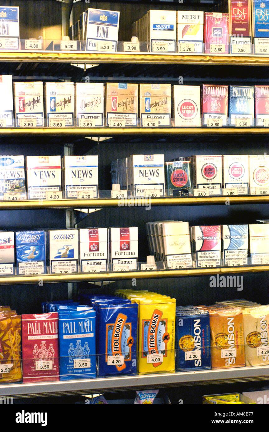 Paris france detail tobacco shop tobacconist cigarettes for sale stock photo royalty free - Acheter des graines de tabac en france ...