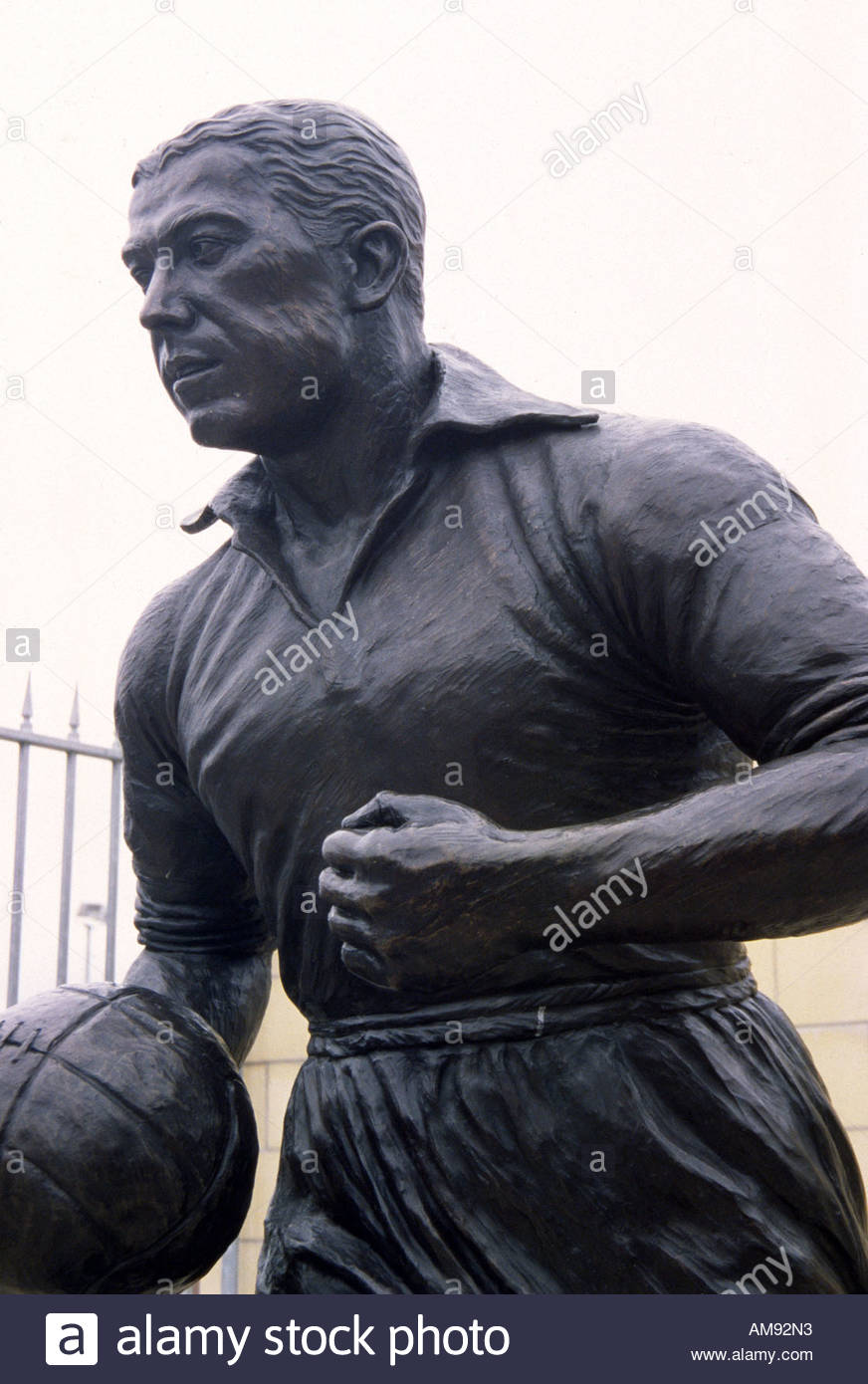 Liverpool England Statue of Dixie Dean outside Goodison Park Stock