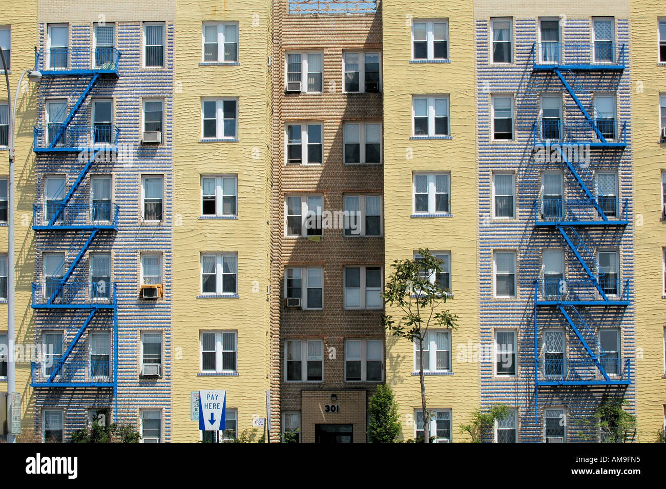 Apartment Building Brooklyn outside a brooklyn apartment building stock photo, royalty free