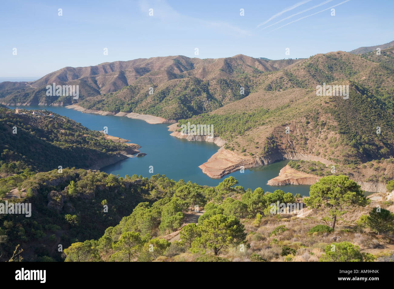 near istan malaga province costa sol spain embalse de