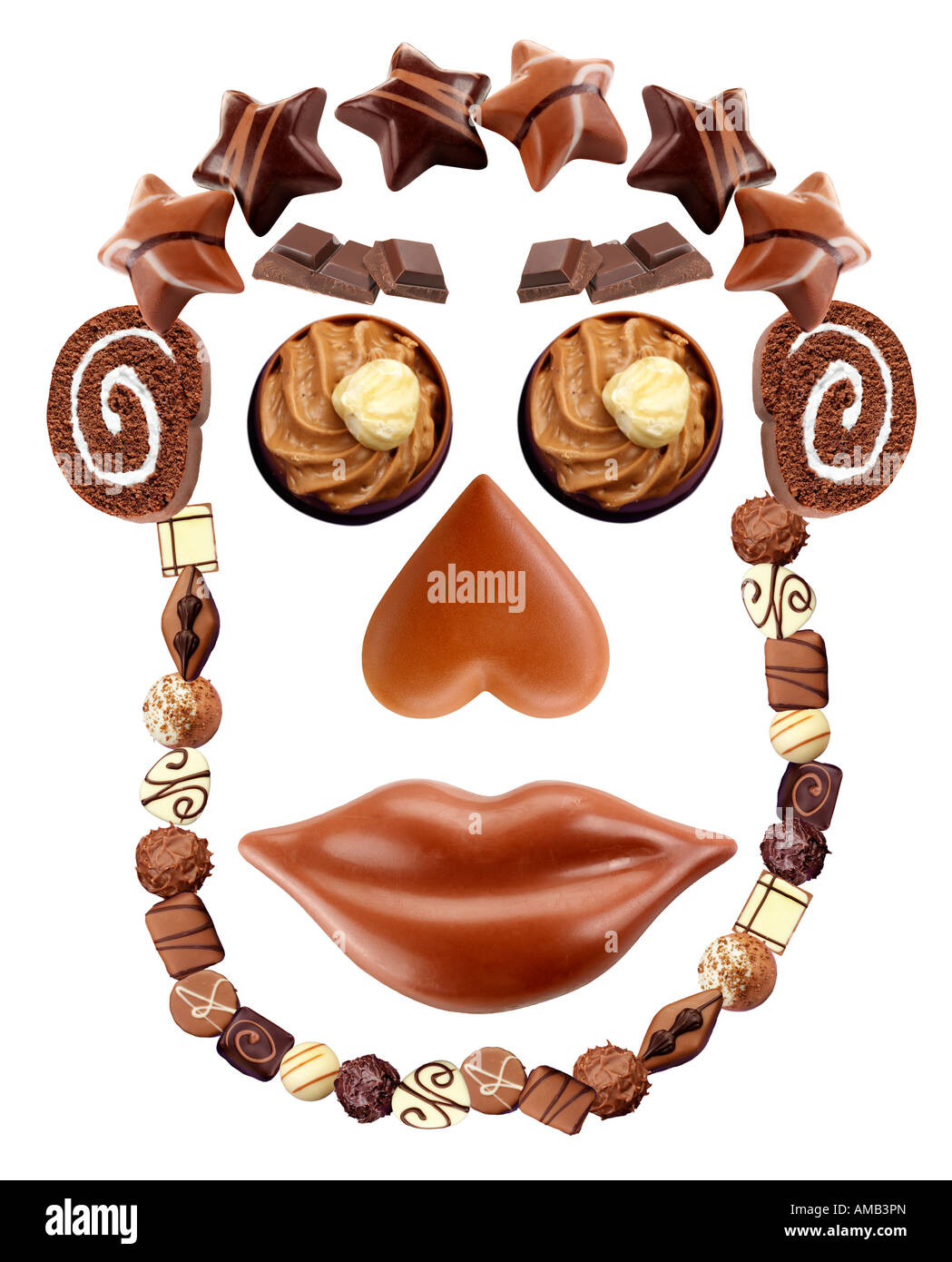 CHOCOLATE FACE ON WHITE Stock Photo, Royalty Free Image: 15207740 ...