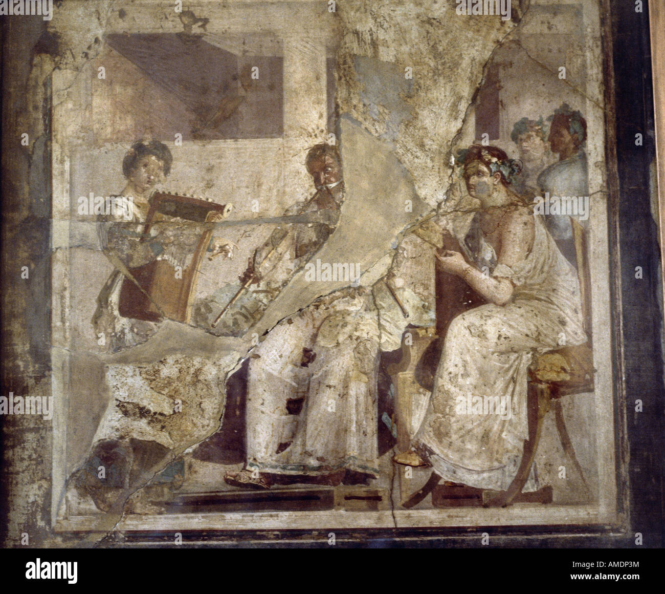 Fine arts ancient world roman empire mural painting for Ancient roman mural