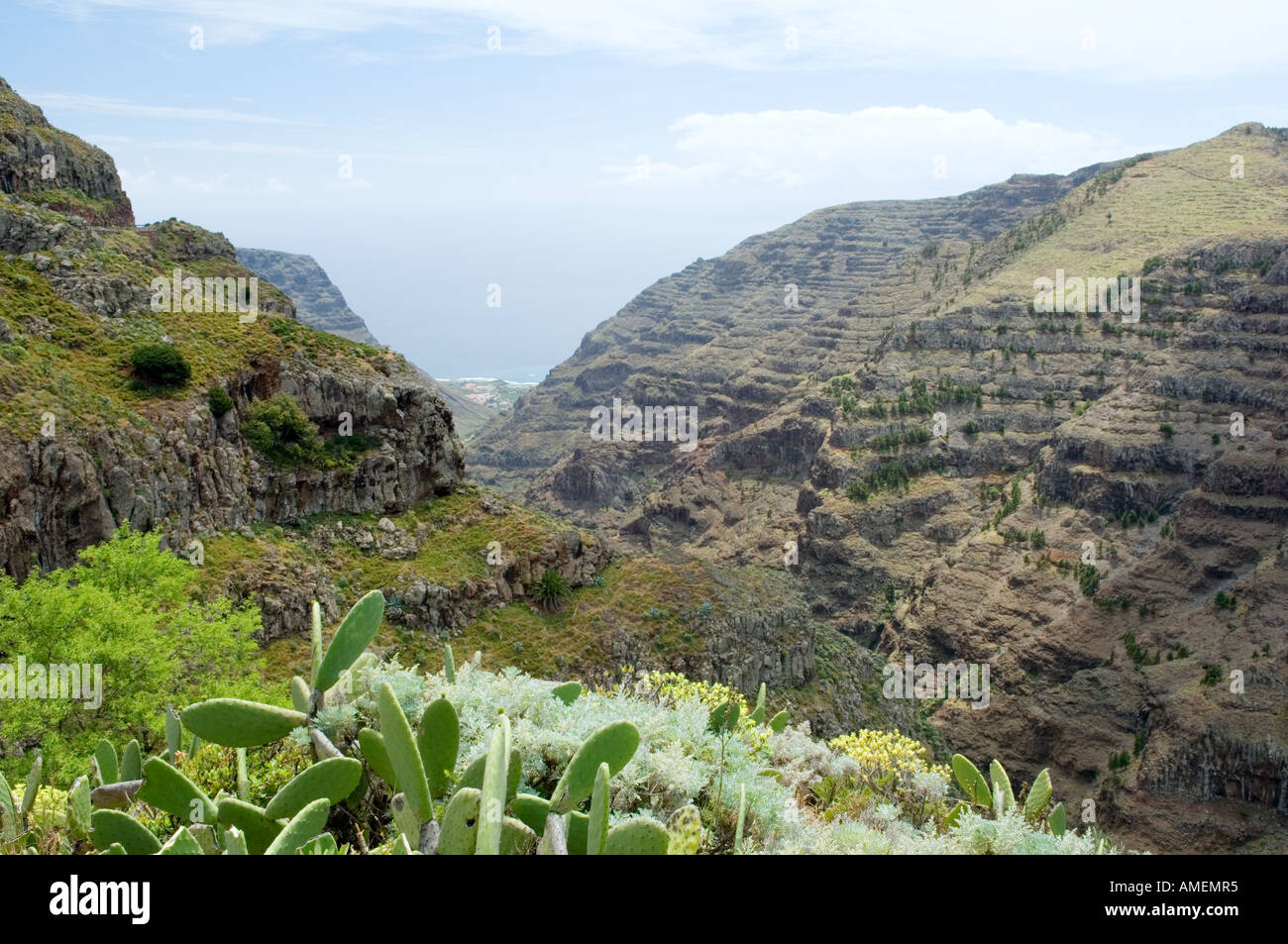 La gomera canary islands natural terrace rock strata for Natural terrace