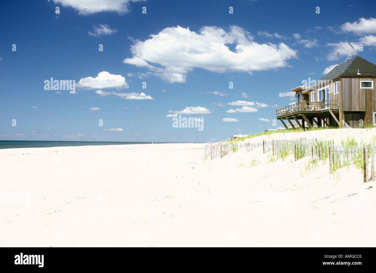 White Sand Beach Fire Island Long Island New York Ny Usa