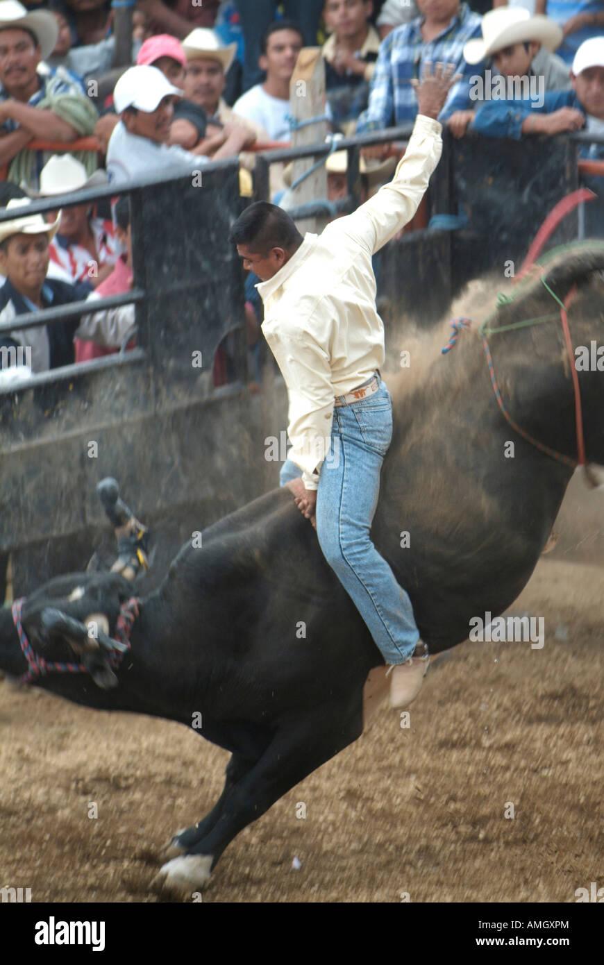 Mexico Morelos Mexican Bullriding Rodeo Stock Photo