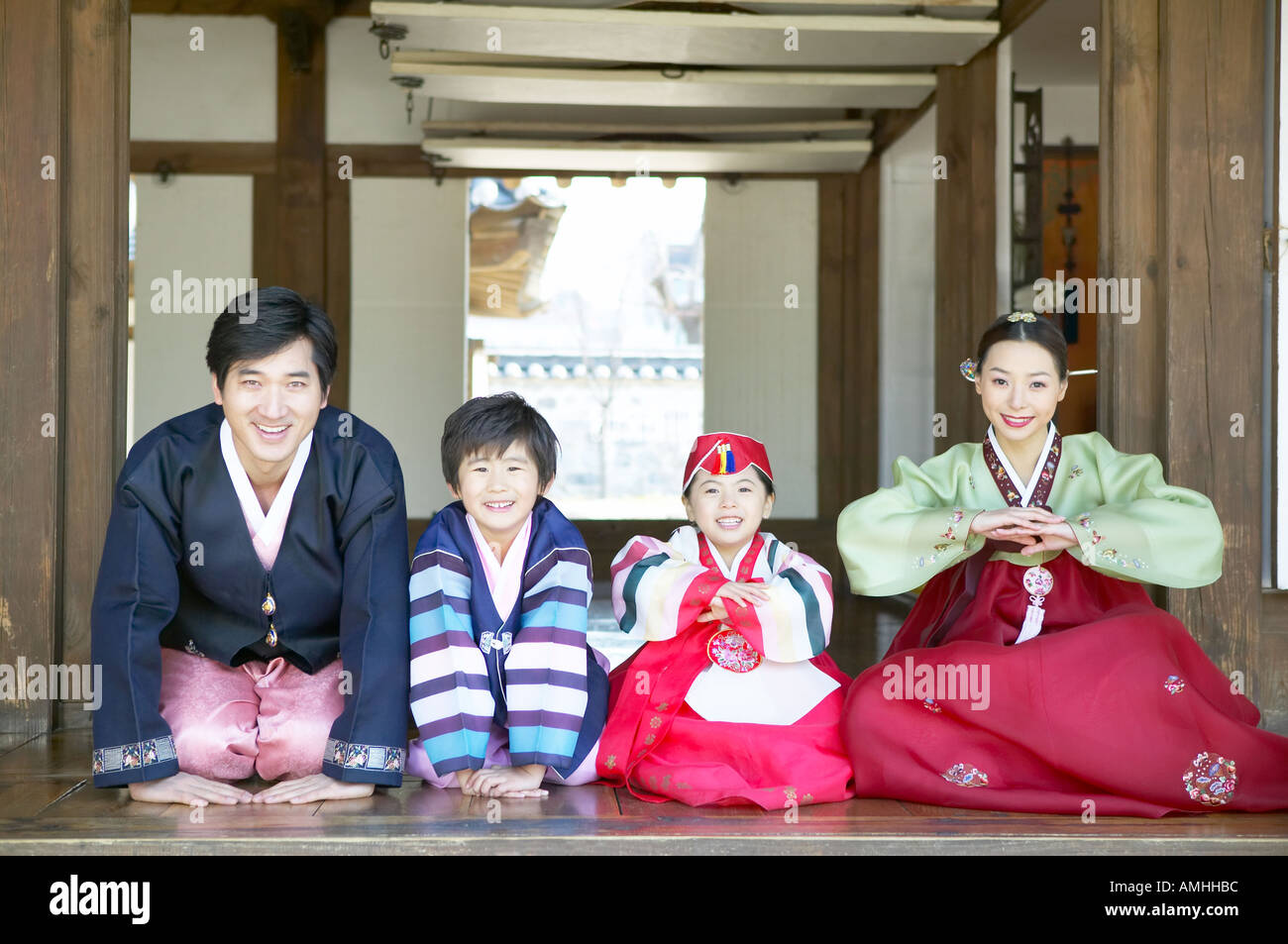 A family in hanbok greet in korean way stock photo 4984251 alamy a family in hanbok greet in korean way kristyandbryce Choice Image
