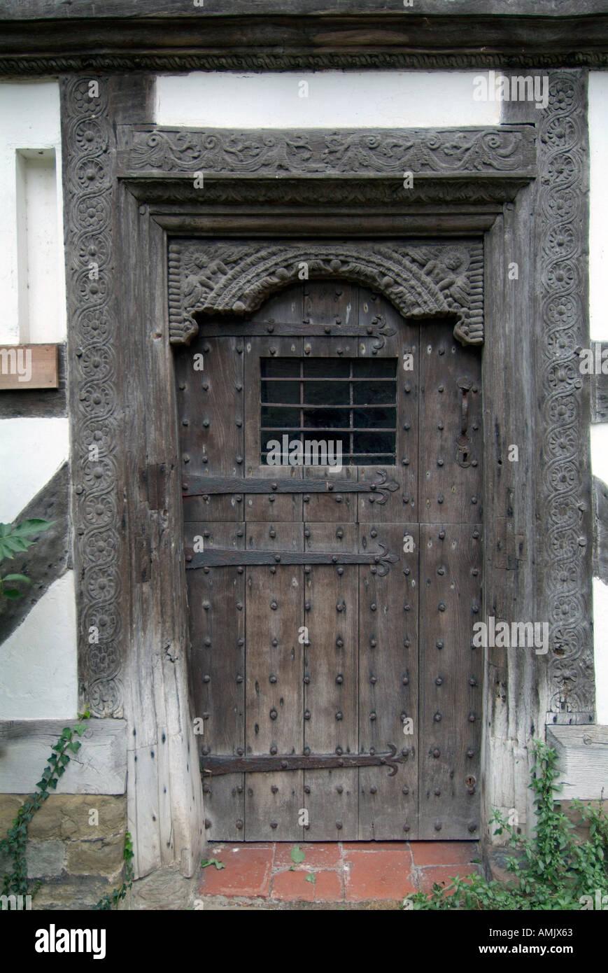 Old Tudor Front Door Ludlow Shropshire England Uk United