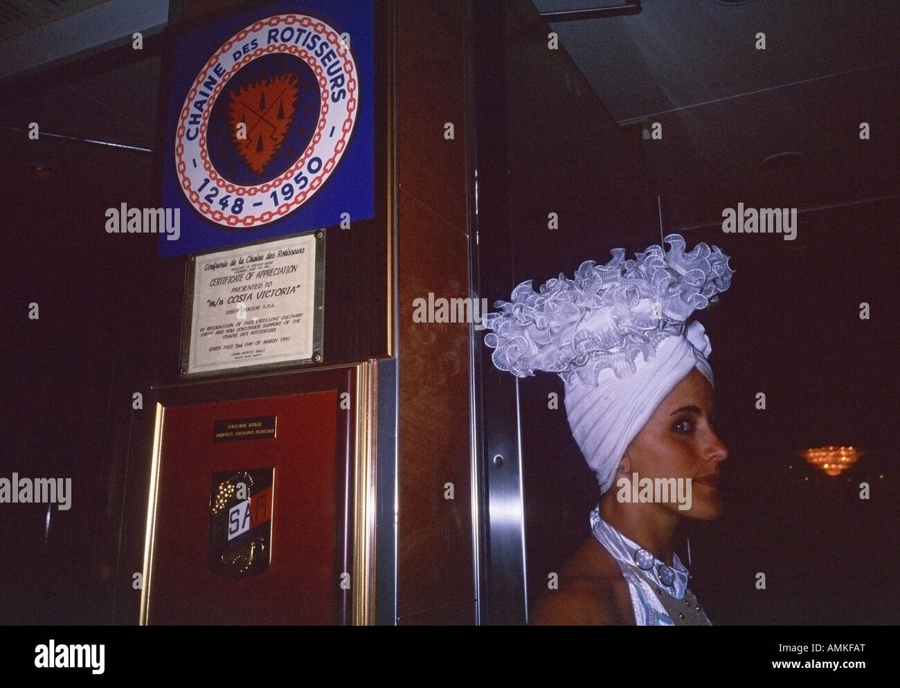 A Show Girl With Costume Working Onboard A Cruise Ship Stock Photo - Cruise ship costume