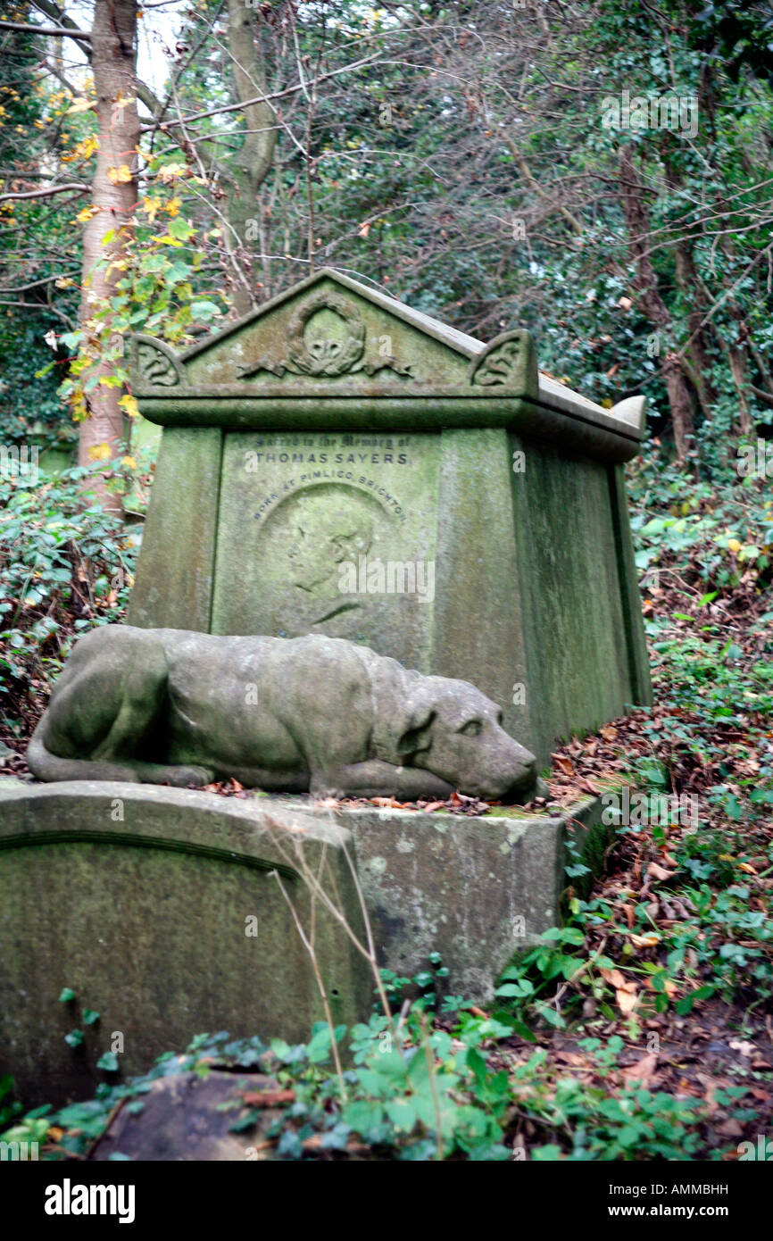 Image result for thomas sayers highgate cemetery