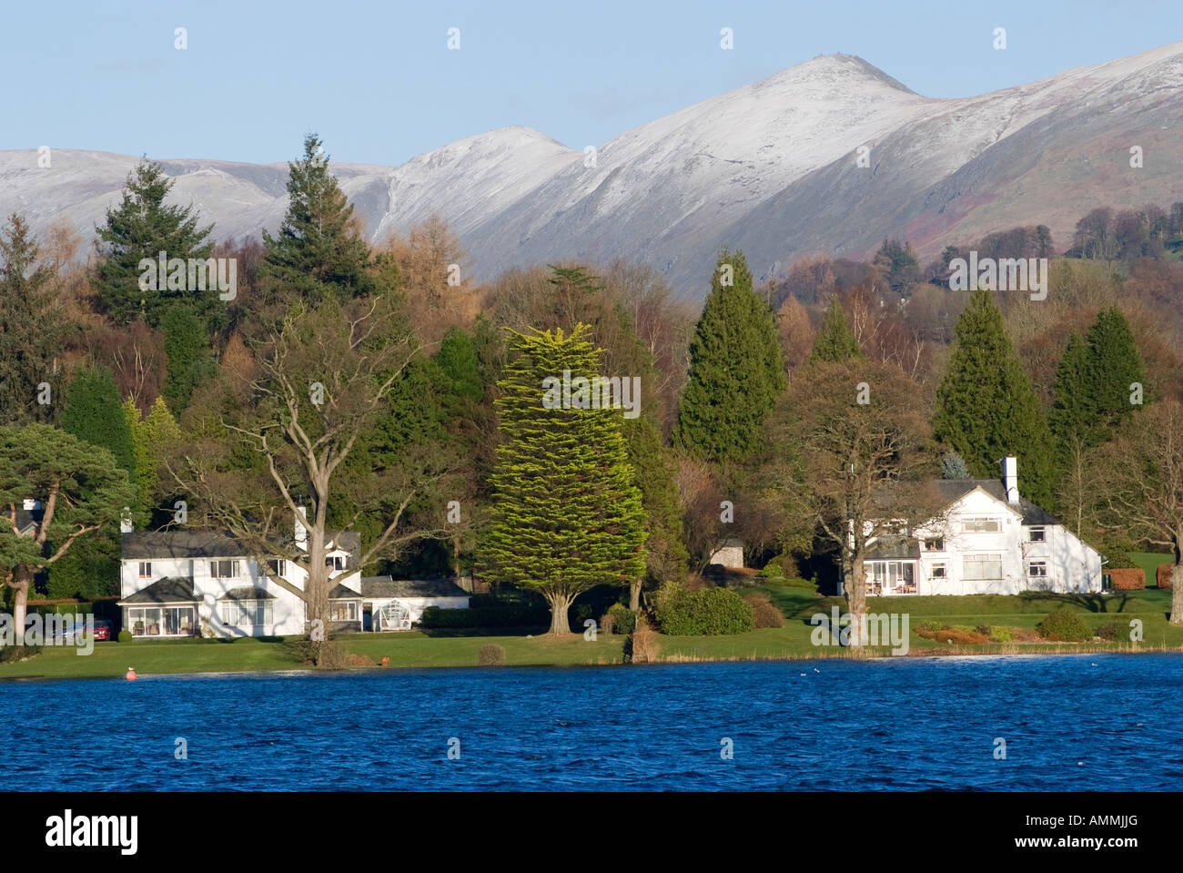 Lovely Gardens houses with lovely gardens on the shore of lake windermere near