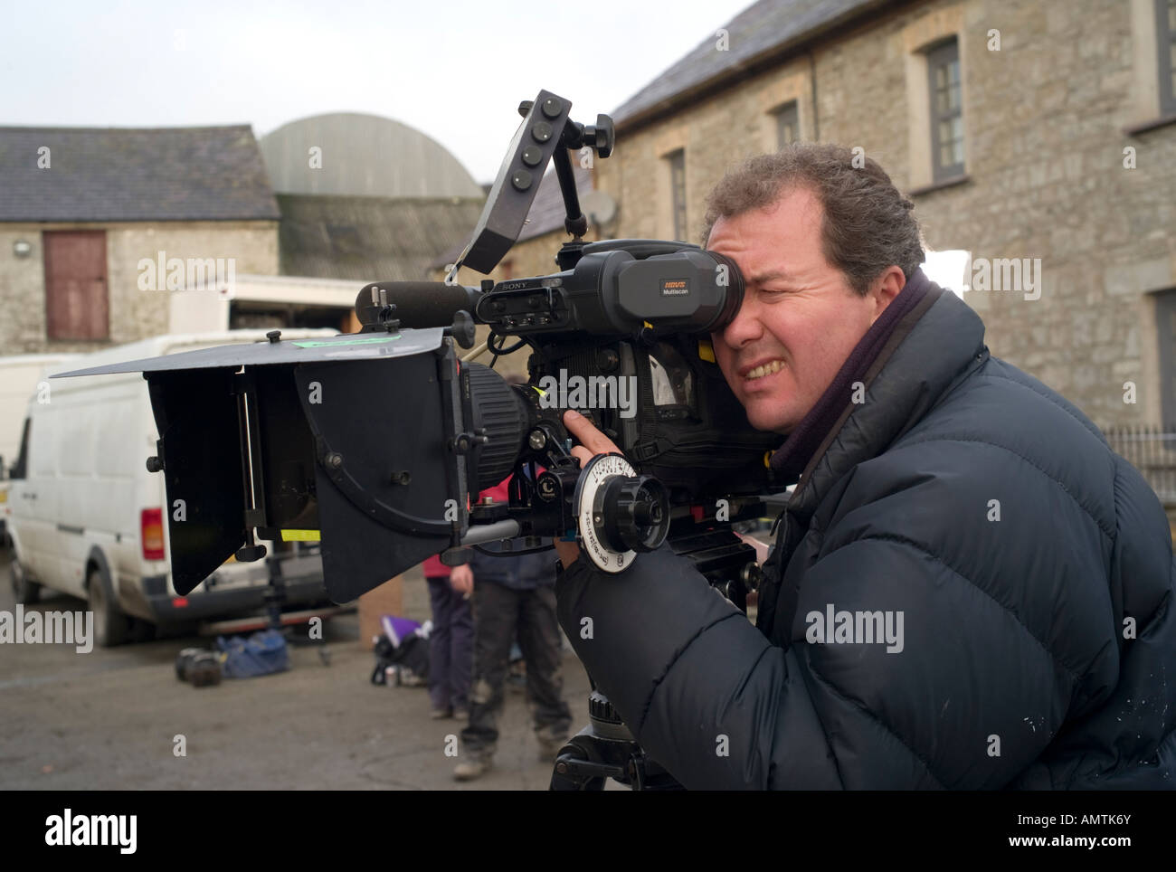 Male Video Cameraman Director Of Photography Using A Sony