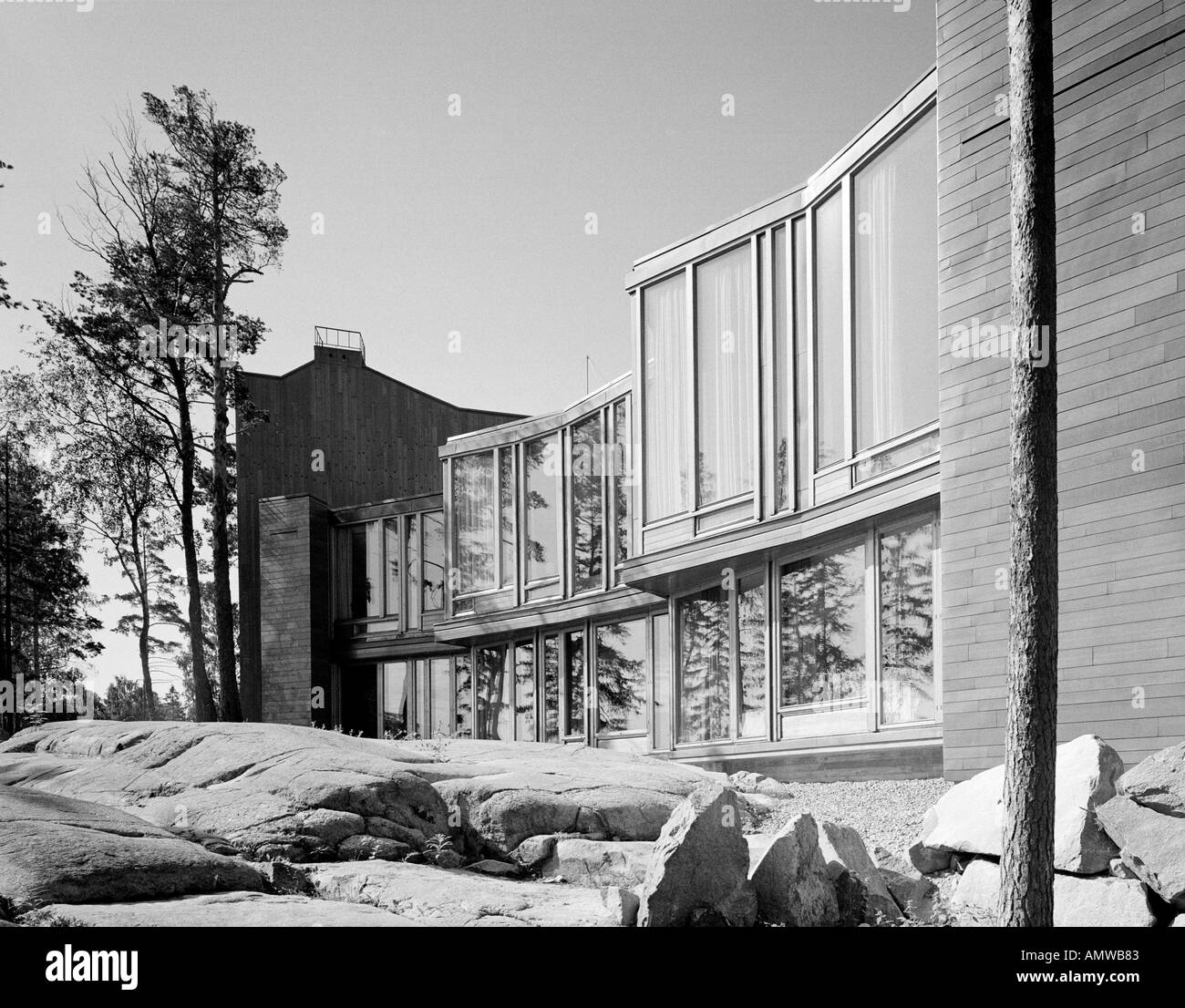 Dipoli Student Centre, Otaniemi, Helsinki, 1966. Exterior. Architect Stock Photo, Royalty Free ...