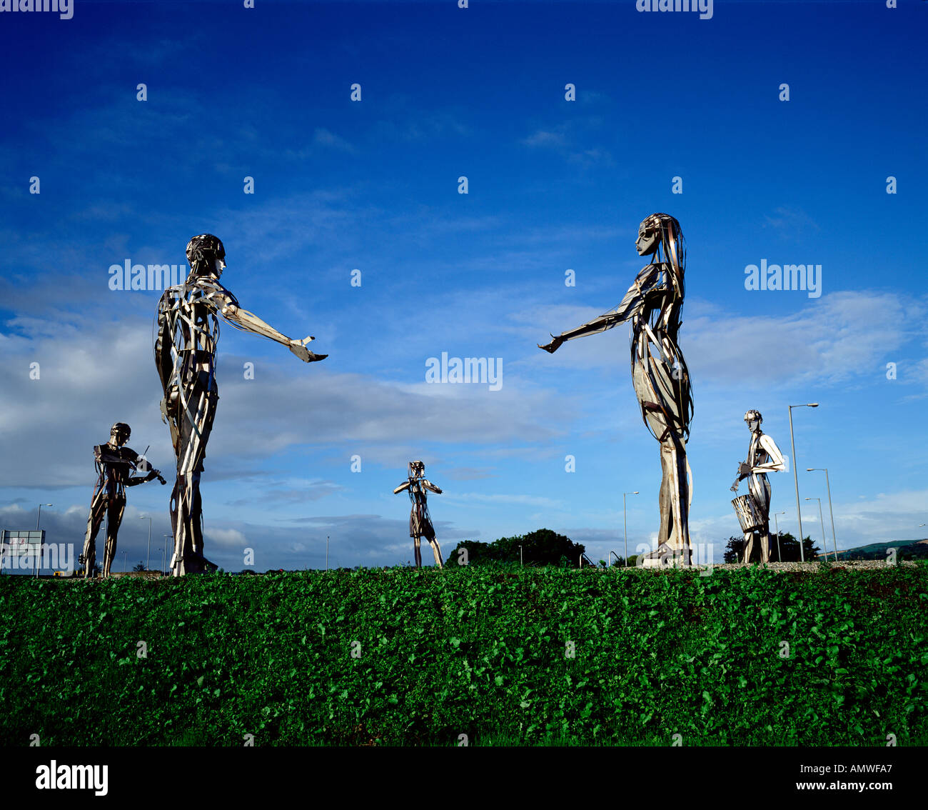 street sculptures strabane co tyrone northern ireland stock photo royalty free image. Black Bedroom Furniture Sets. Home Design Ideas