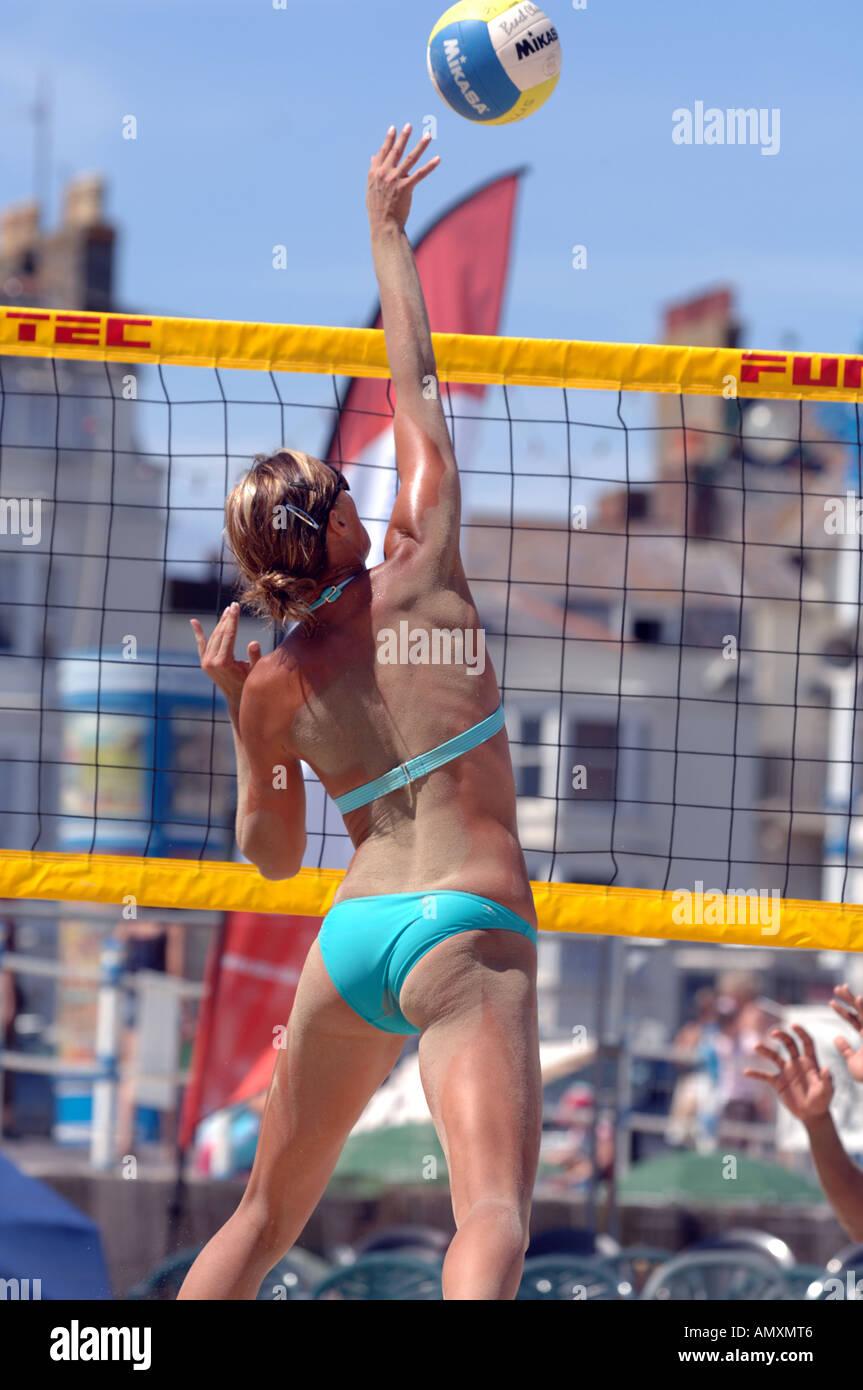 Volleyball Beach Volleyball Weymouth Beach Dorset Britain Uk