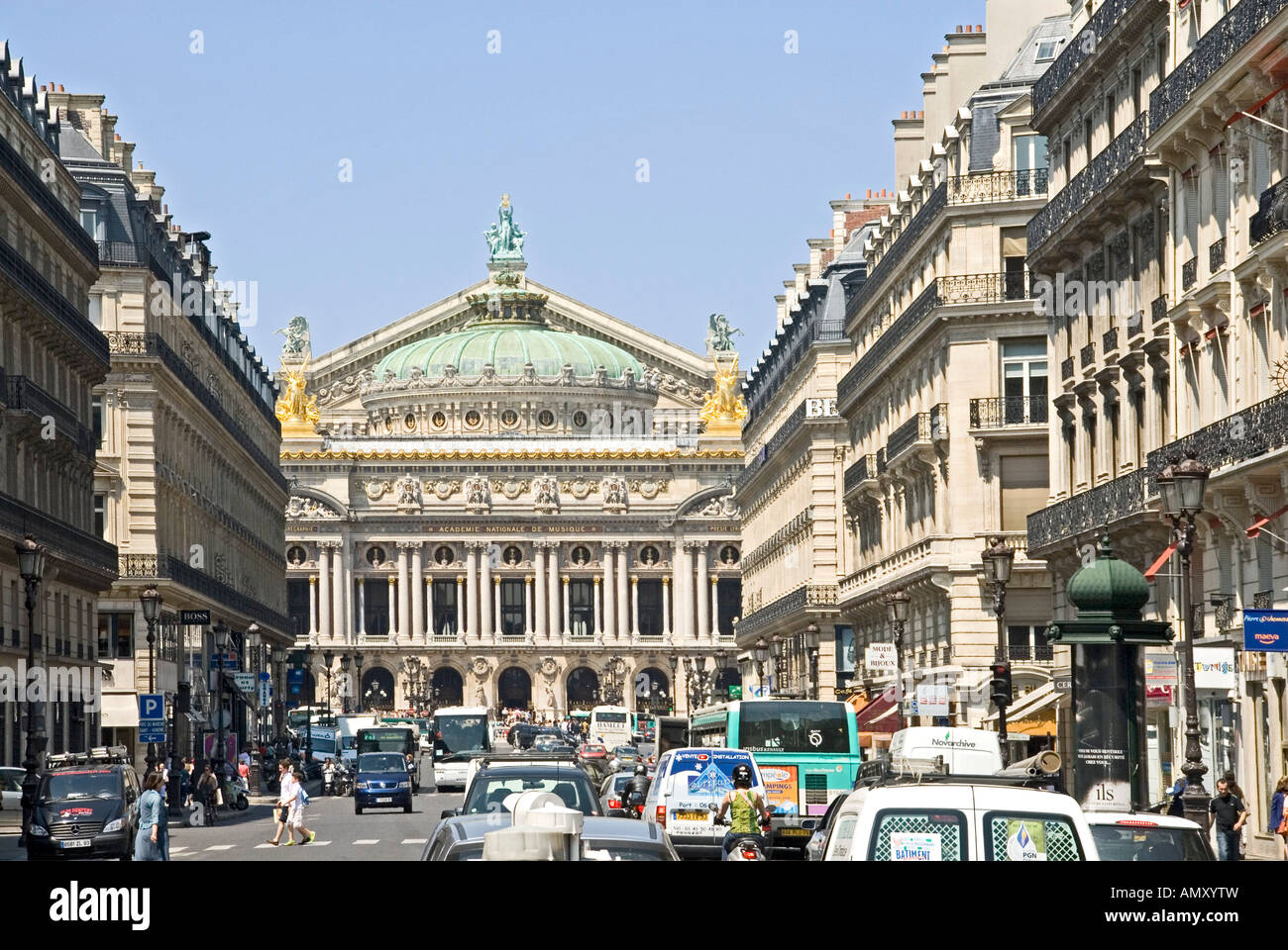 traffic on city road palais garnier paris france stock photo royalty free image 15356952 alamy. Black Bedroom Furniture Sets. Home Design Ideas