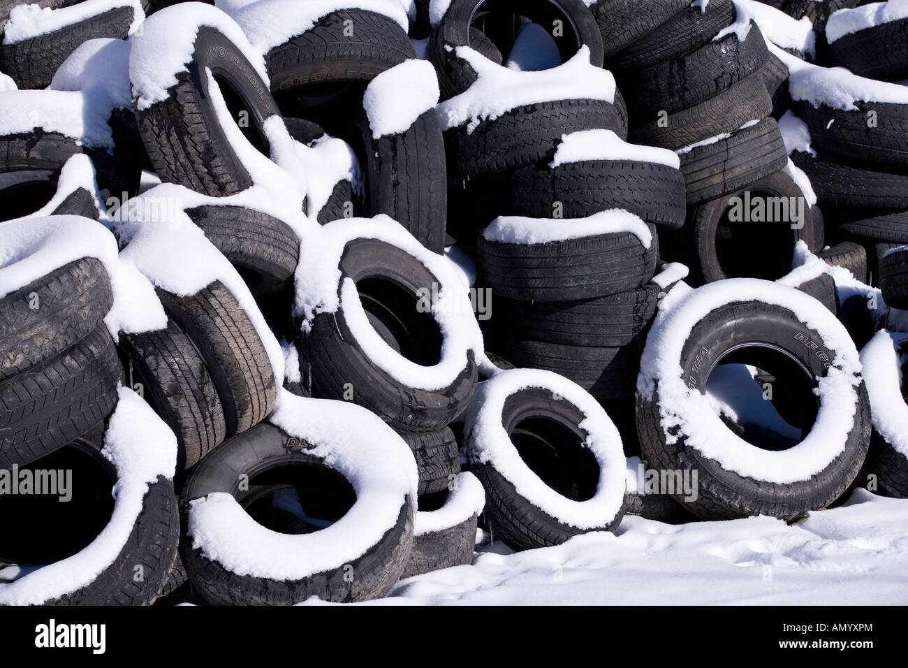 Automobile Car Tires Covered In Snow Stock Photo Royalty Free