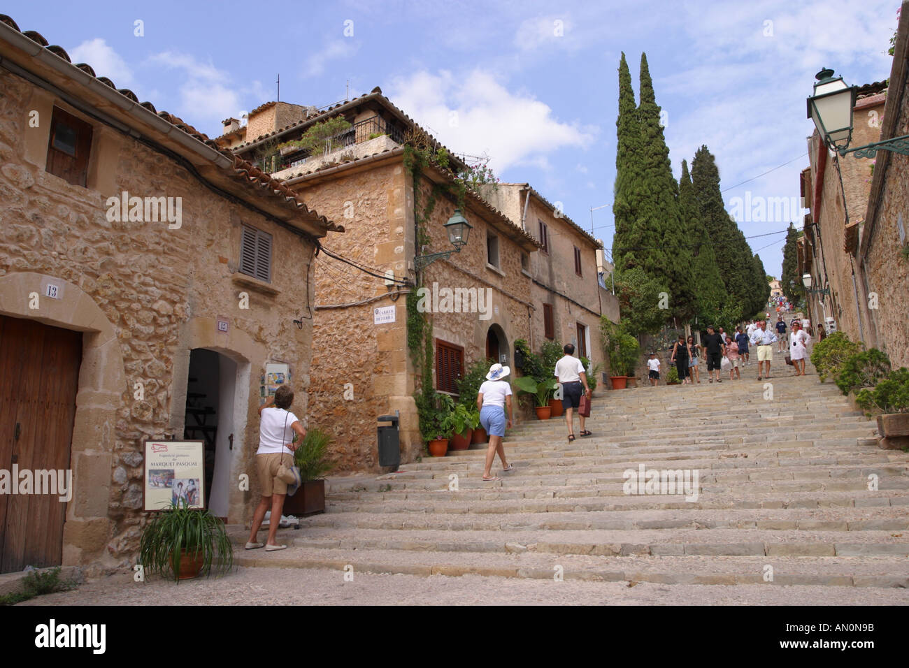 Pollensa Majorca the Calvari is a flight of 365 steps leading to a Stock Phot...