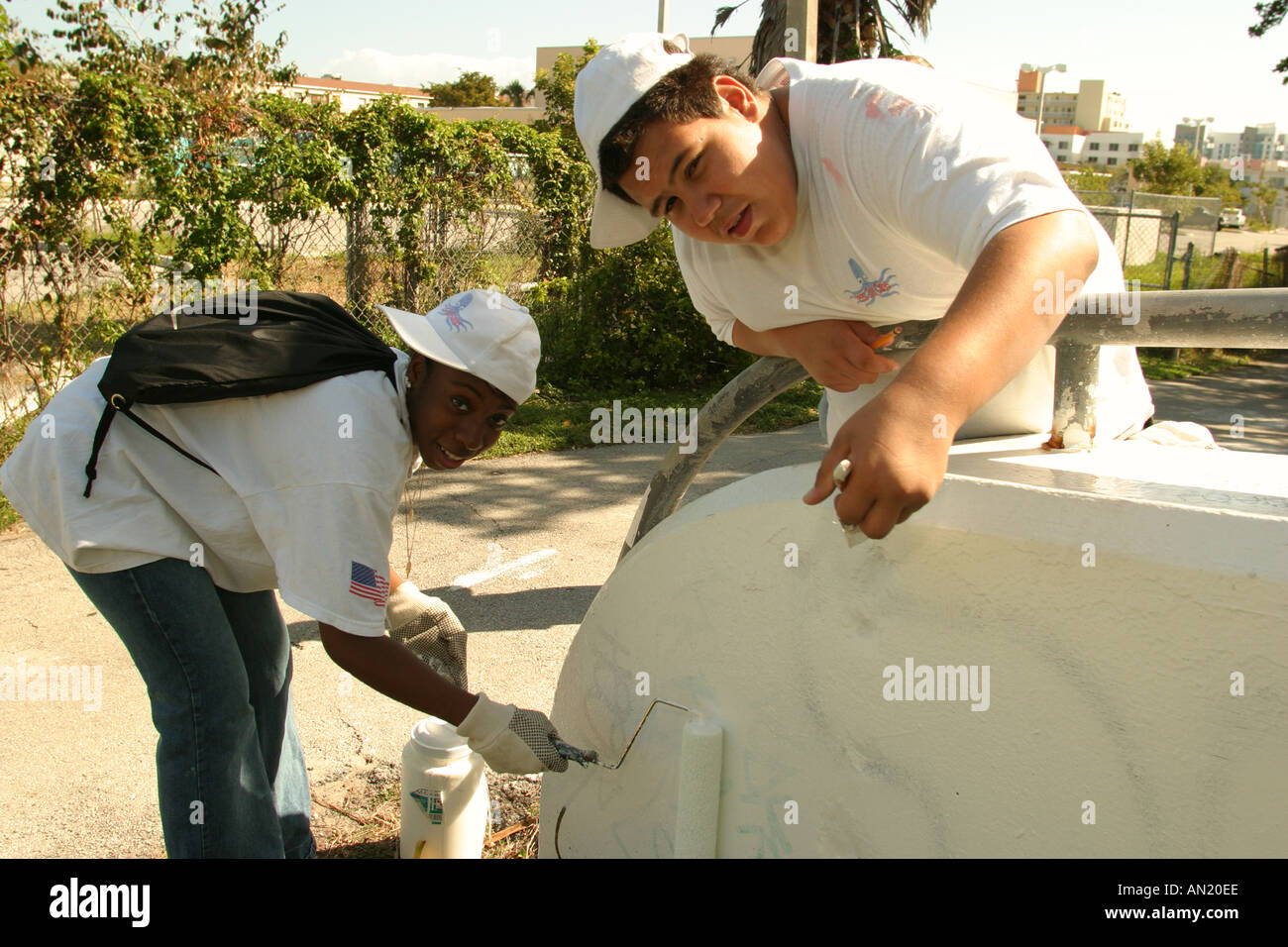 miami beach florida teen job corps students clean up along tatum miami beach florida teen job corps students clean up along tatum waterway near painting over graffiti