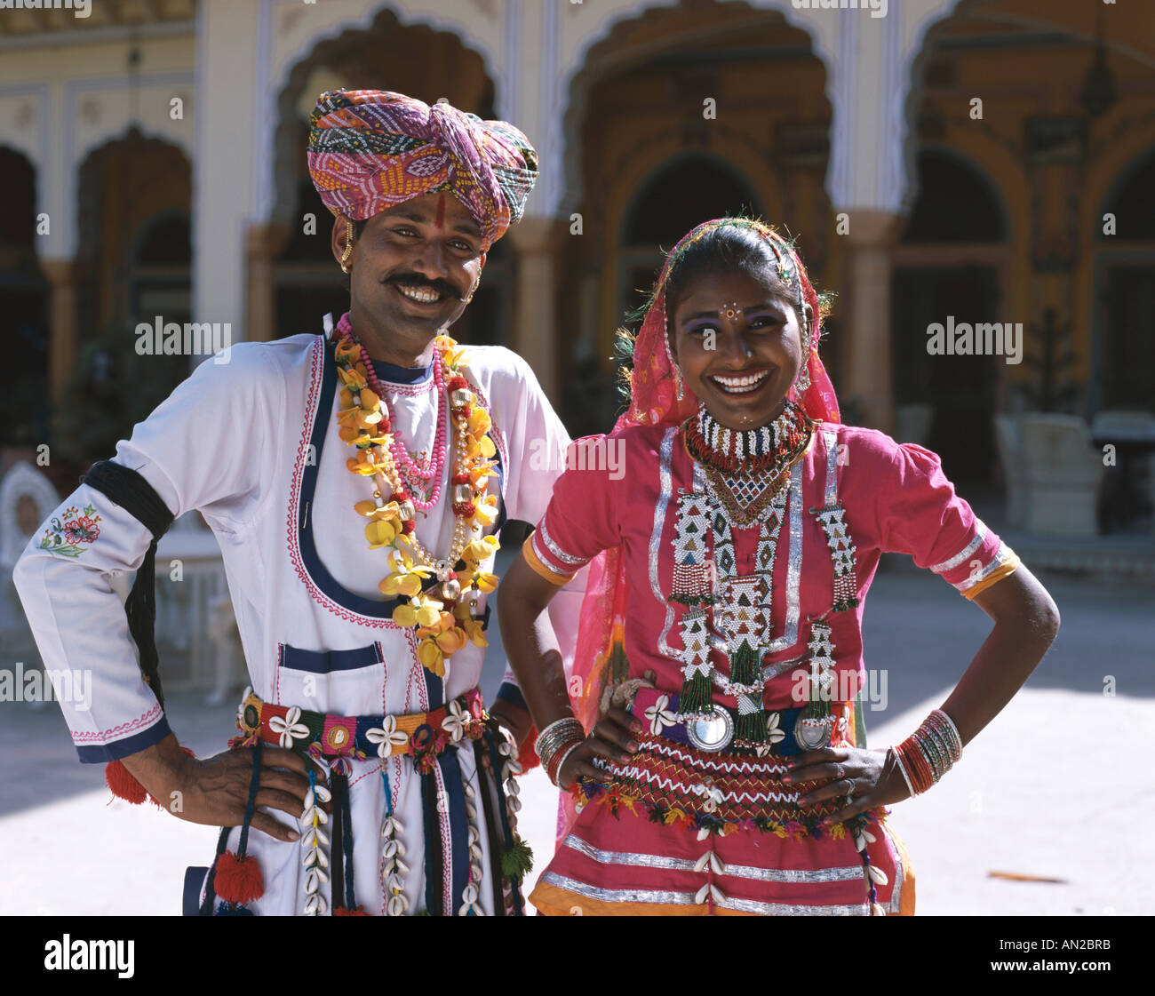 Couple / Man & Woman Dressed in Traditional Costume ...