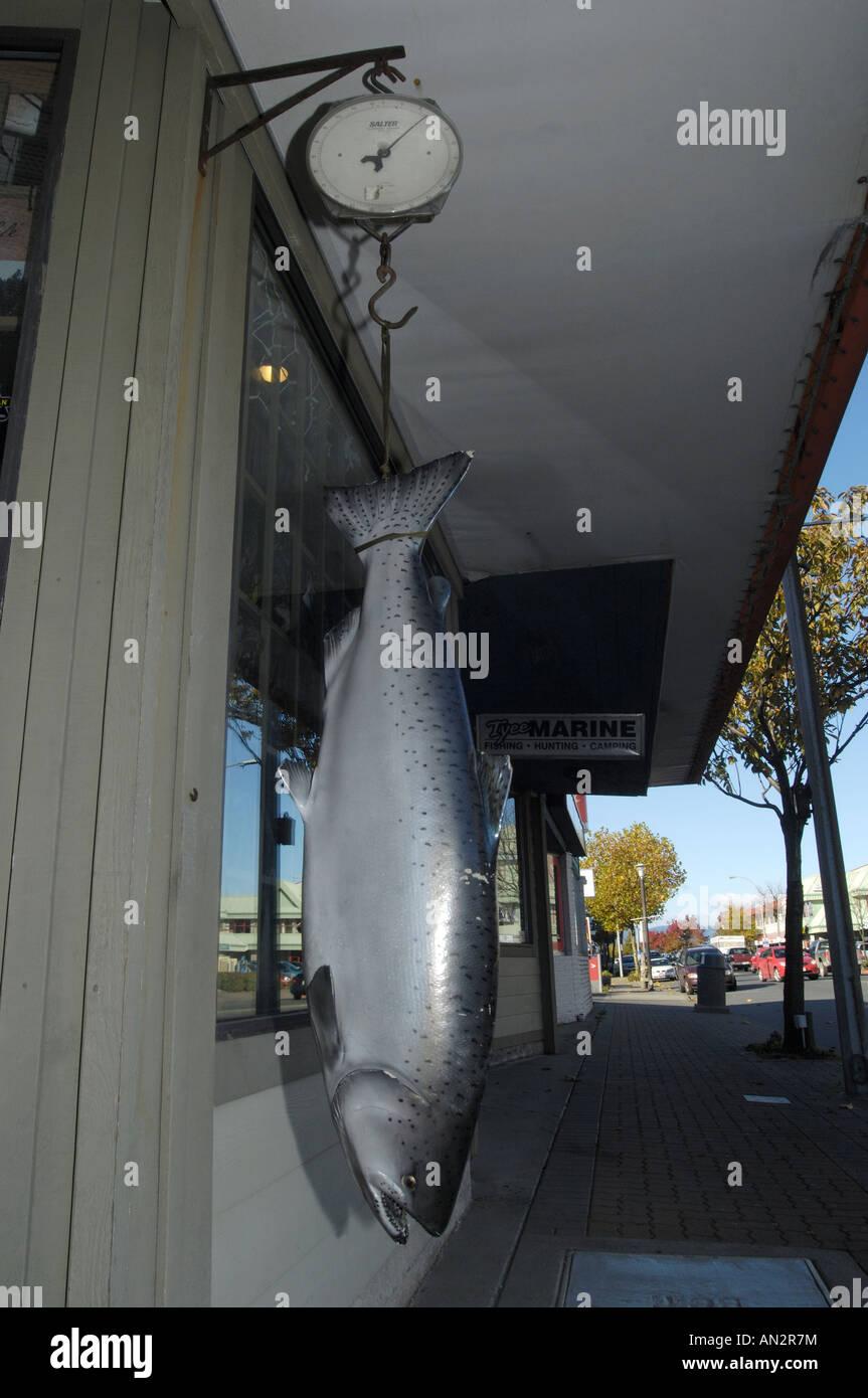 Big Salmon Outside Sports Shop Campbell River British Columbia Canada