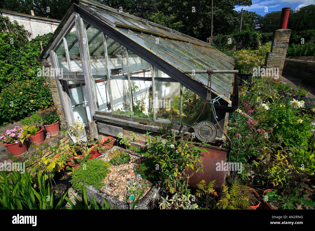 Victorian Kitchen Garden An Old Victorian Glasshouse In The Walled Kitchen Garden At Quex