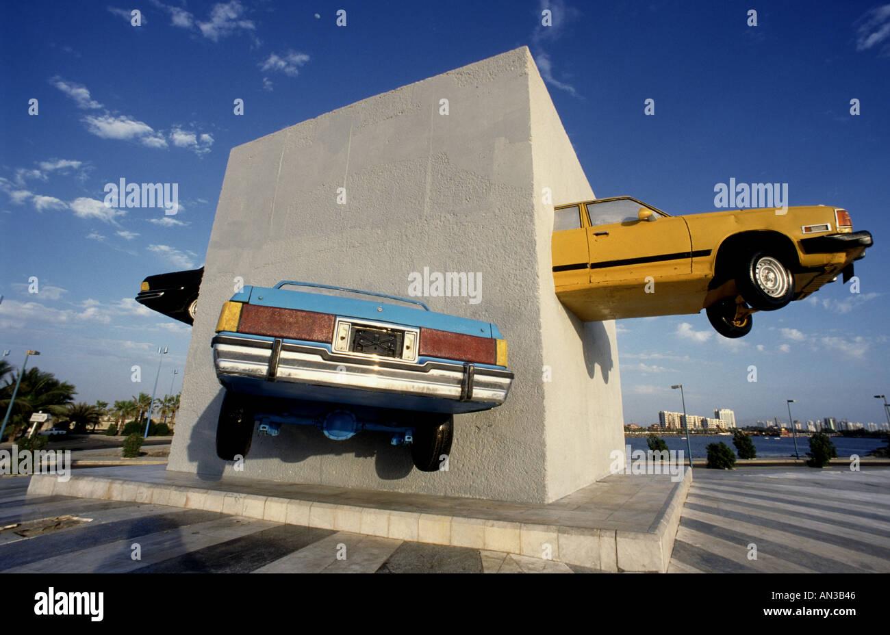 Car monument in jeddah saudi arabia
