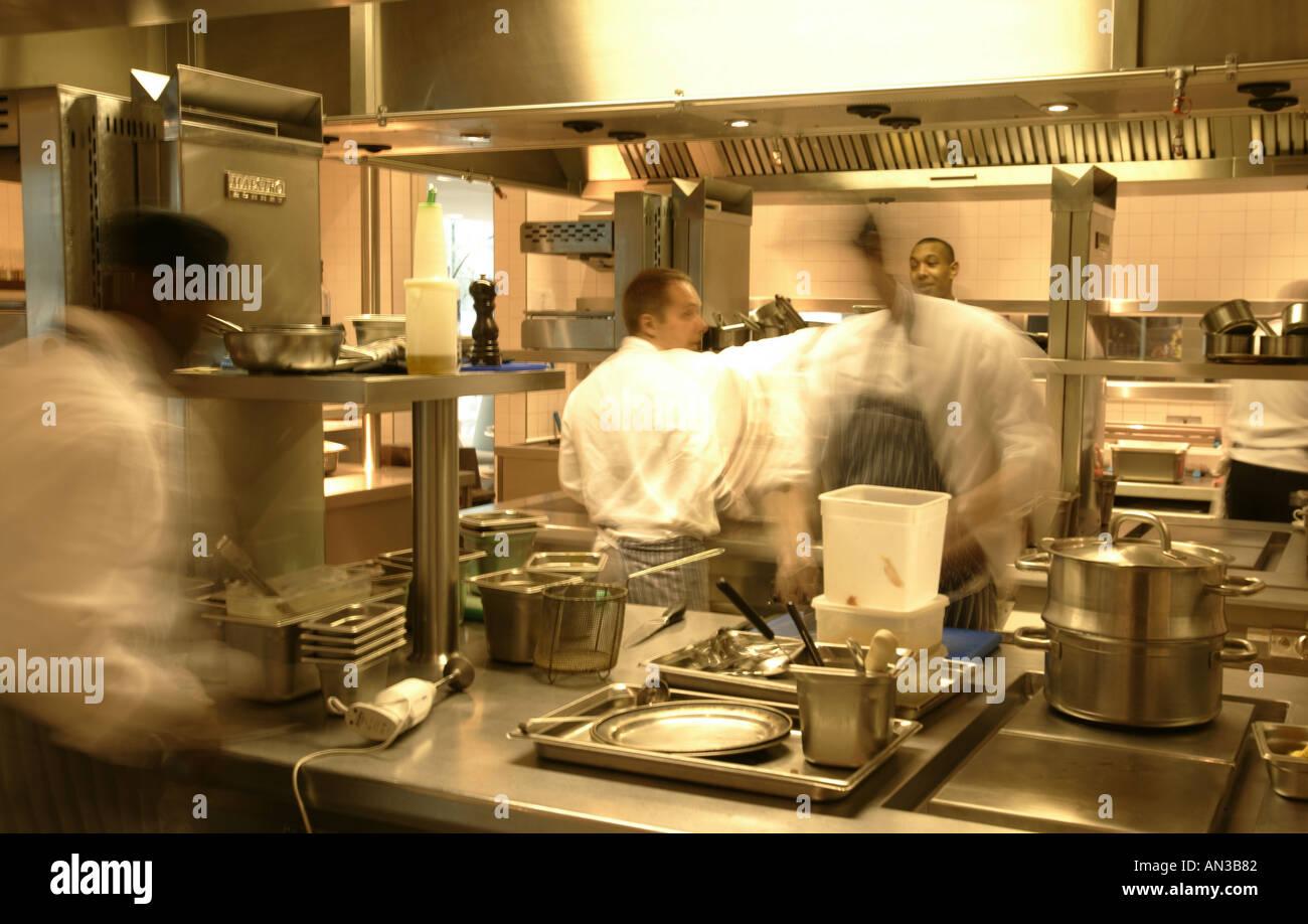 Restaurant Kitchen Staff kitchen staff working stock photo, royalty free image: 1391489 - alamy