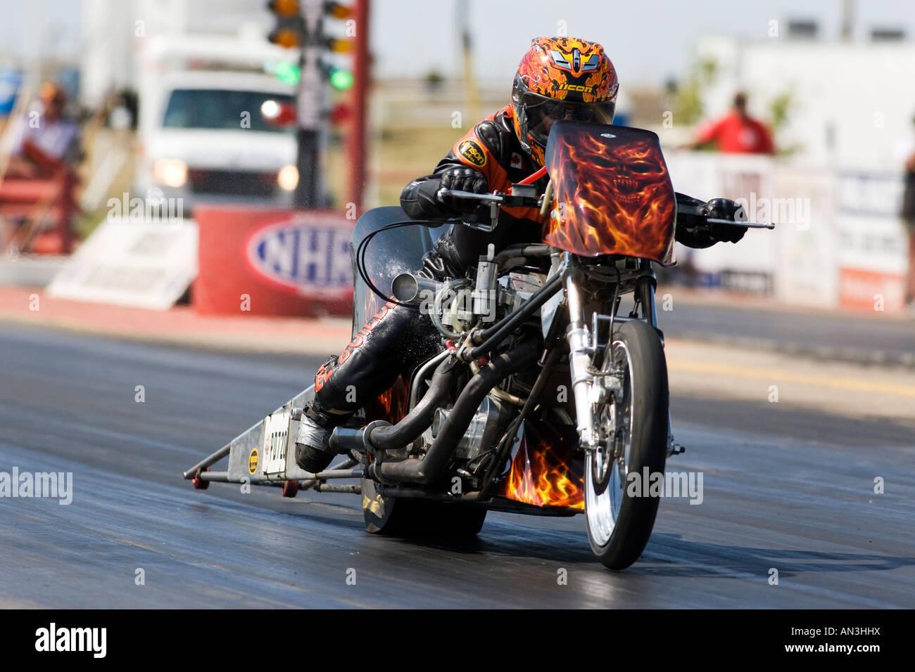 A Top Fuel Drag Bike Racing Stock Photo Royalty Free Image