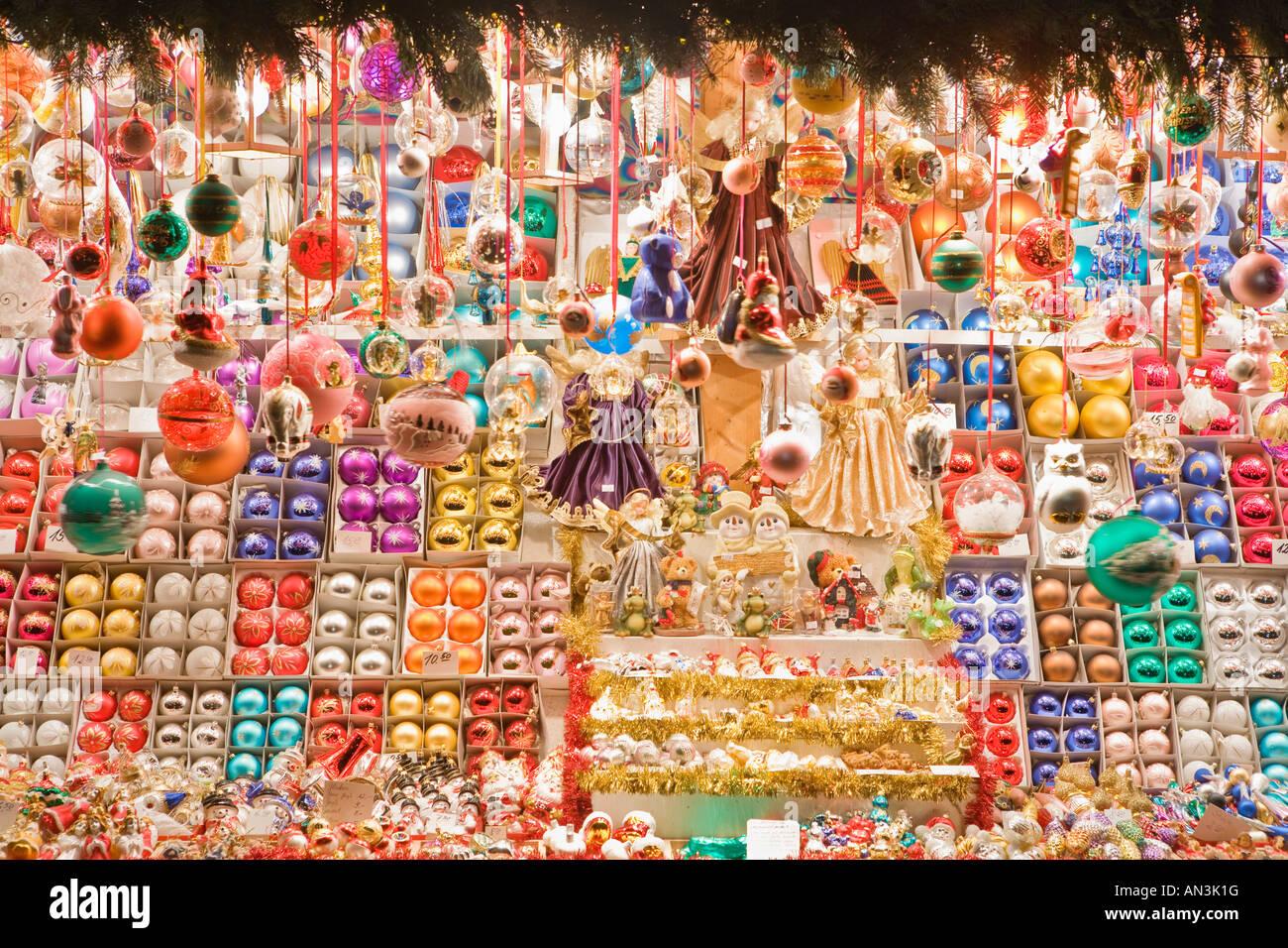 Germany Bavaria NÜrnberg The Christmas Market Christmas Ornaments Store