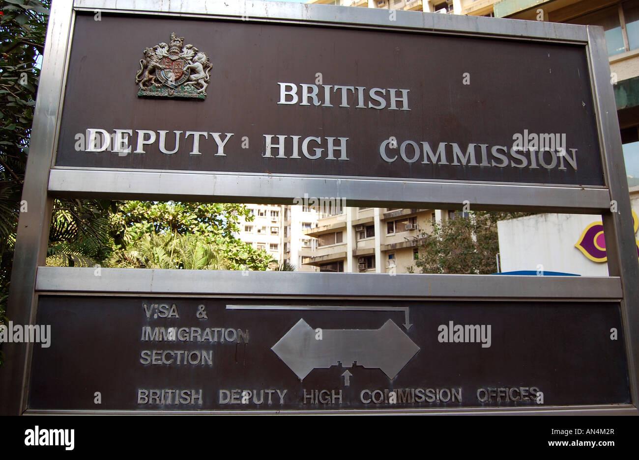 British high commission visa department mumbai university