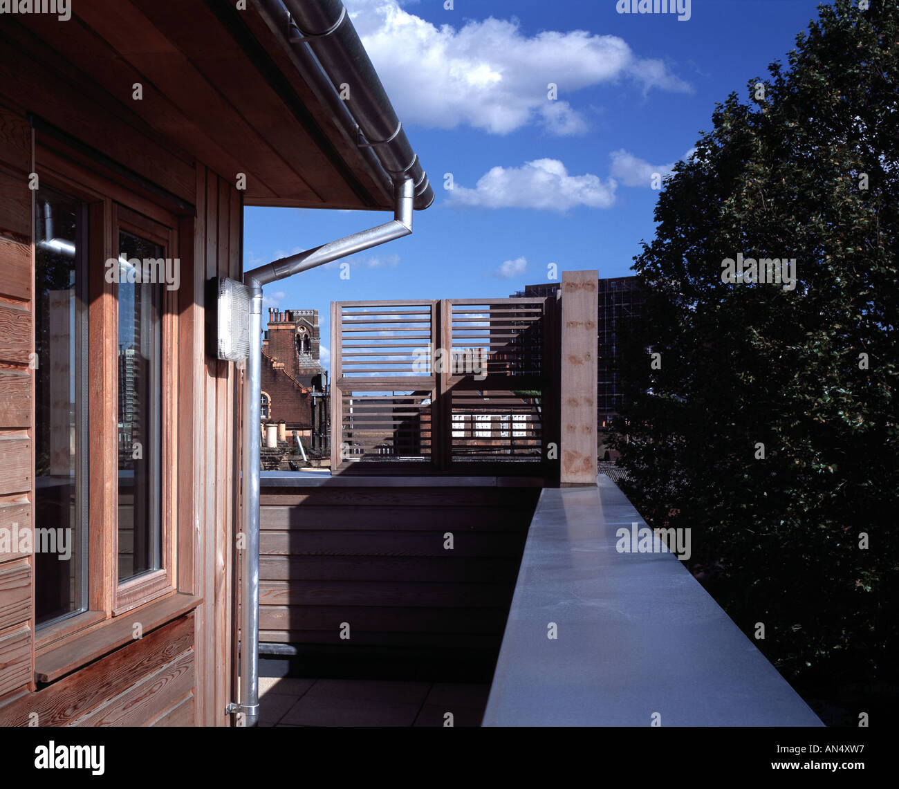 Bird in Bush Nursery, London. Upper level balcony view. Architect ...