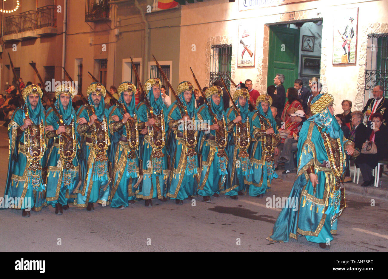 Fiestas Spain Moors and Christians at Villafranquesa Villafranqueza ...
